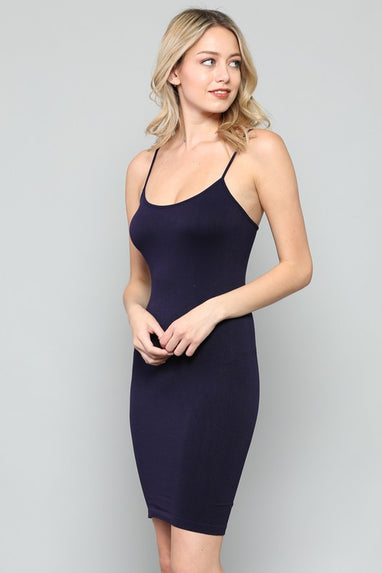 Long Cami - Spaghetti Strap (Black)