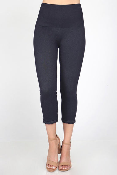 Denim Cropped Legging (Indigo)
