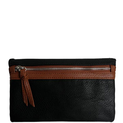 Sabina Wristlet/Crossbody (Black)