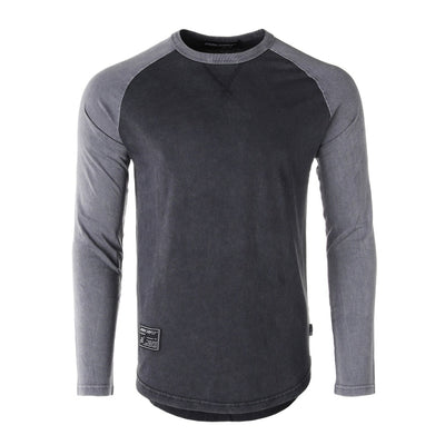 Retro Baseball Raglan Shirt (Charcoal)
