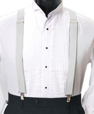 Men's Suspenders (White)