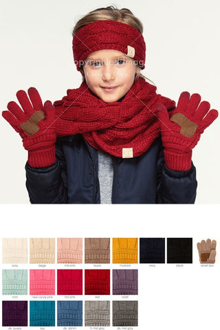 KIDS CC Knit Gloves (9 Colors)