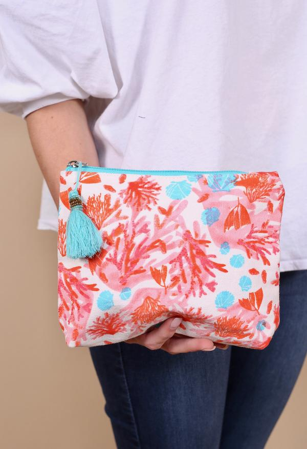 Cruiseline Cosmetic Bag/Pouch (Coral)
