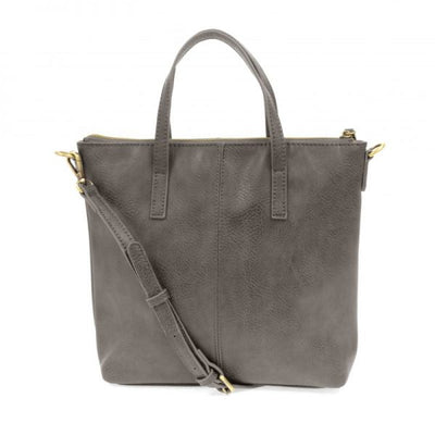 1 Kim Top Zip Medium Tote (Charcoal)