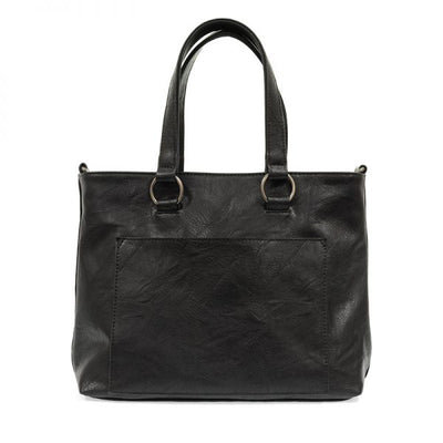 1 Nancy Zip Top Convertible Tote (Black)