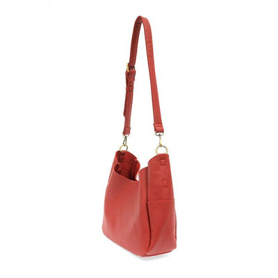 1 Hadley Leather Hobo Bag (Red)