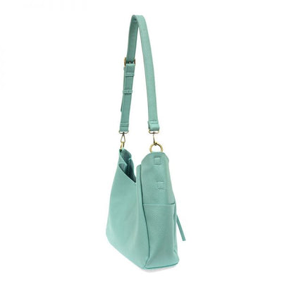 1 Hadley Leather Hobo Bag (Turquoise)