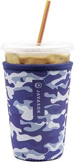 JavaSok MEDIUM 22-28oz Cold Beverage Sleeve (Blue Camo)