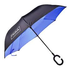 ROMA Inverted Umbrella w/ Carrying Case (Blue)