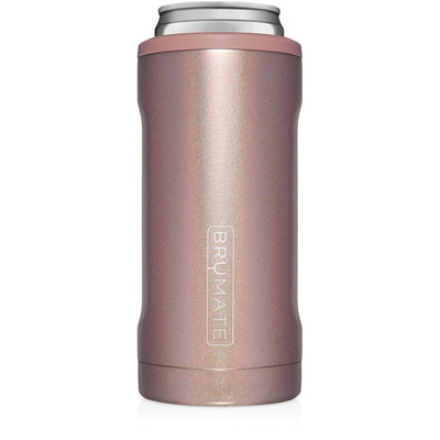 BruMate Hopsulator Slim Can Cooler (Glitter Rose Gold)