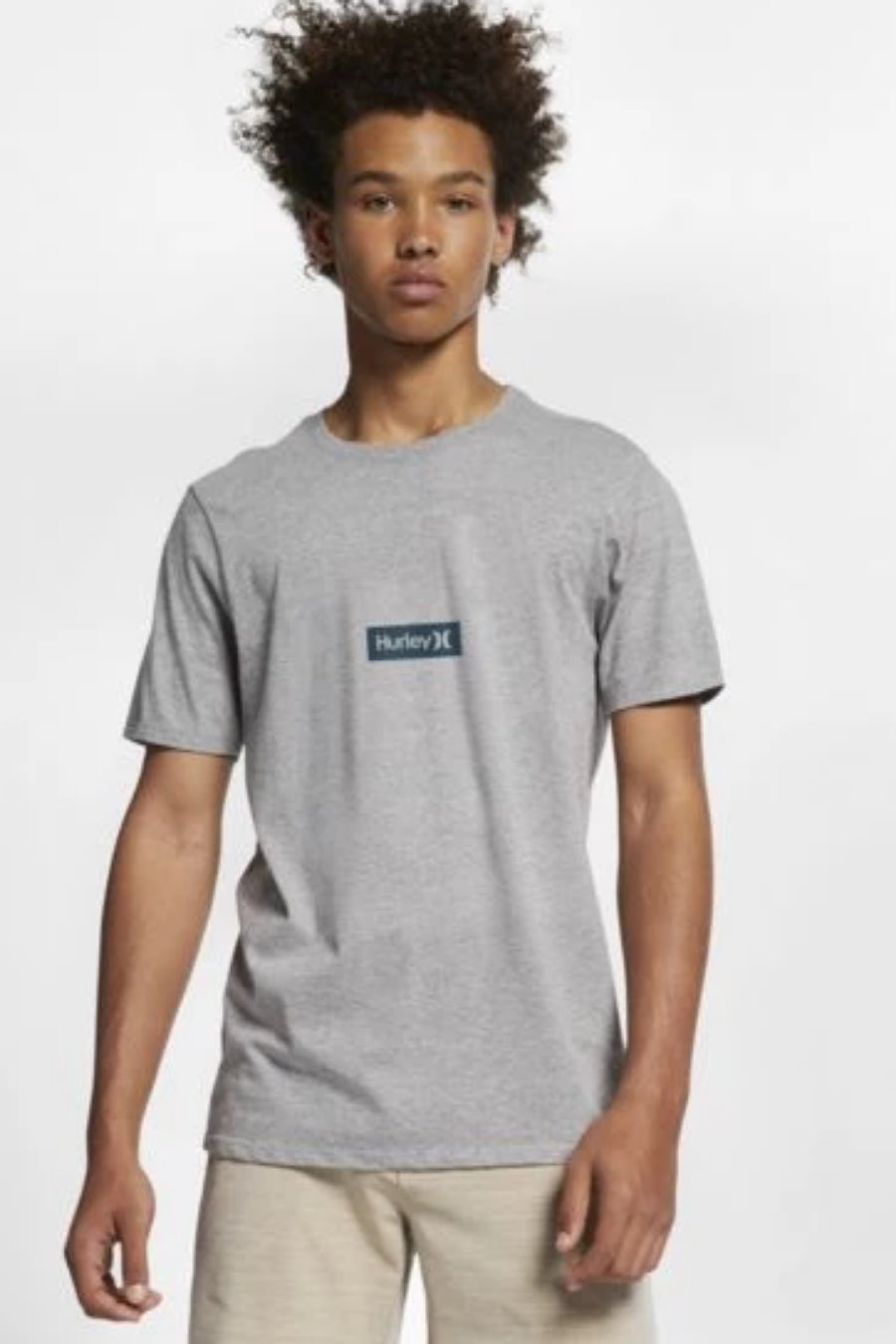 HURLEY Premium One & Only Small Box Tee (Grey Heather)