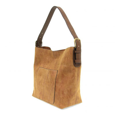 Lux Hobo Coffee Handle Handbag w/ Removable Insert (Cognac)
