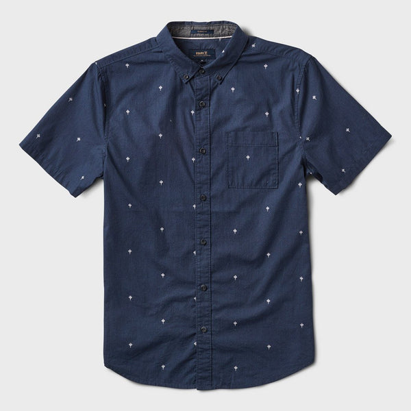 ROARK Triple Lanterns Short Sleeve Button Up Shirt (Navy)