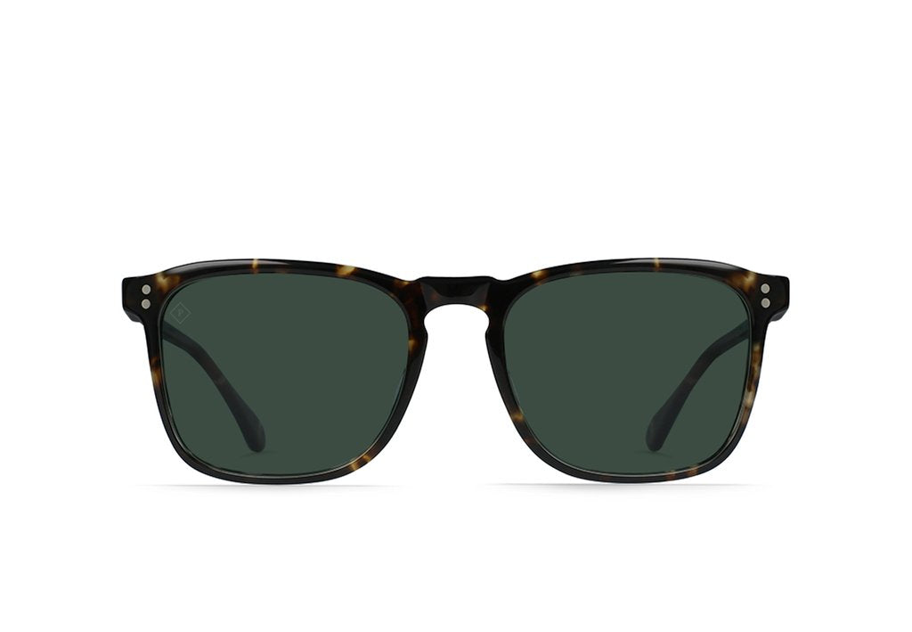 "RAEN ""Wiley"" Men's Square Sunglasses (Brindle Tortoise/Green Polarized)"