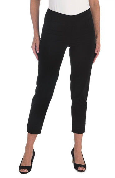 Zac & Rachel Pull On Ankle Pant (Black)