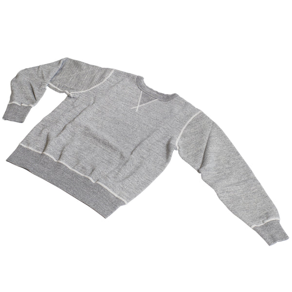 Buzz Rickson's Loopwheel Crewneck Heather Gray