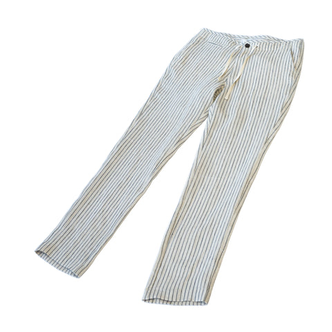 Freemans Sporting Club EZ Trouser Flax Stripe Linen