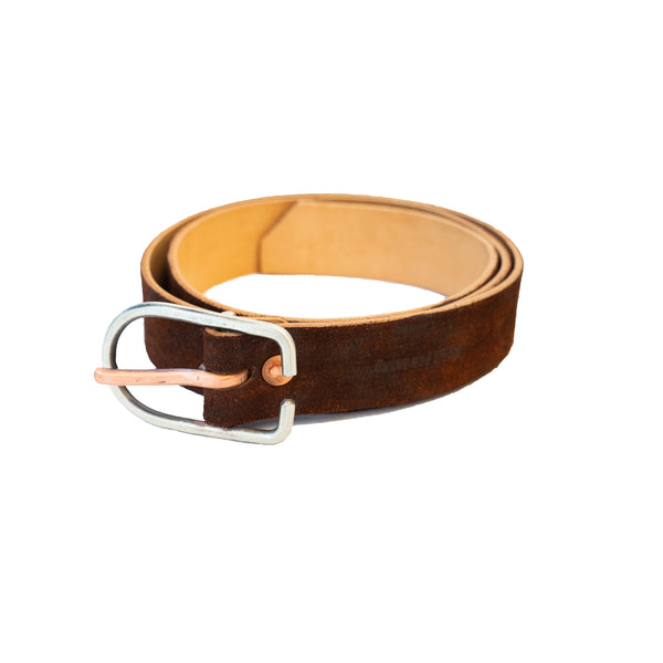 "Cause and Effect Brown ""Suede"" Belt"