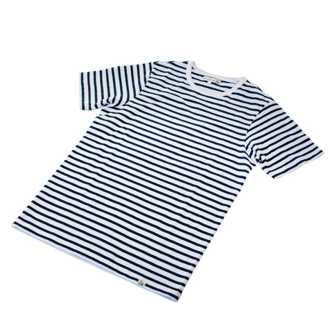 Merz b. Schwanen 2M15 striped T-shirt Ink/White