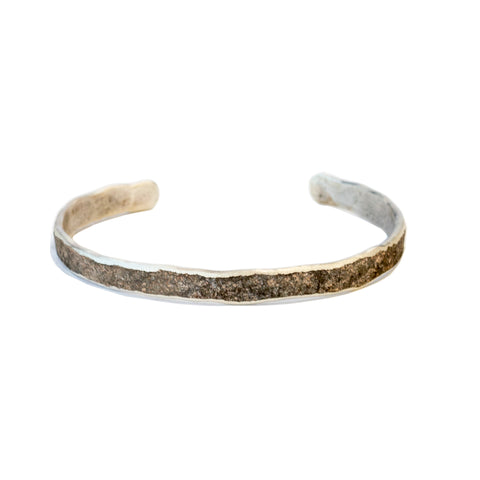 Cause and Effect Oxidized Sterling Cuff