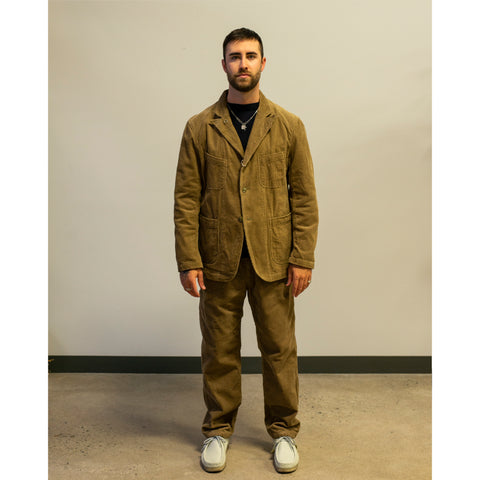 Model wearing Engineered Garments Painter Pant Khaki
