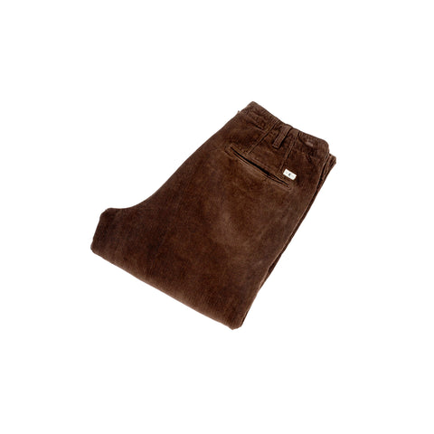 Knickerbocker Flat Front Tapered Trouser Corduroy Dark Hazel