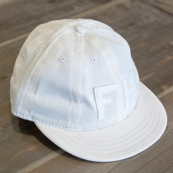 The Foxhole x Ebbets Field Flannels 8 Panel Fitted Off-White Cavalry Twill