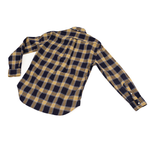 Gitman Vintage Navy Plaid Hopsack