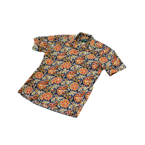 Gitman Vintage Floral Block Print Camp Shirt