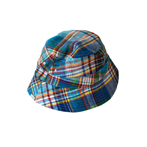 Freemans Sporting Club Reversible Bucket Cap Madras/Green
