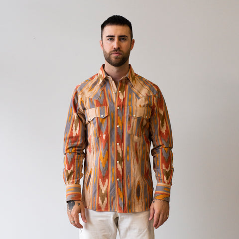 Freemans Sporting Club Western Shirt Big Ikat