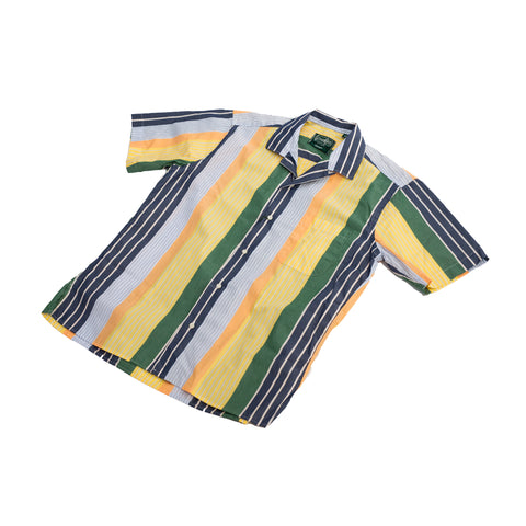 Gitman Vintage Cotton Awning Stripe Camp Shirt