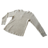 Homespun Knitwear Coalminer Henley Mil-Spec Thermal Grey