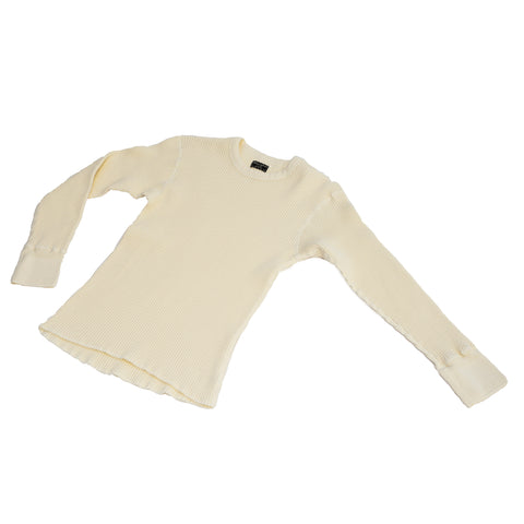 Homespun Knitwear Crew Thermal Bulky Waffle Antler White
