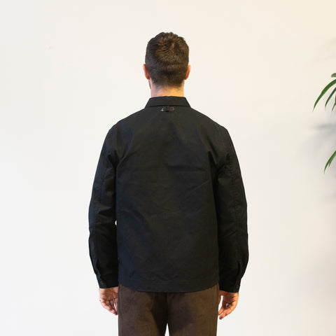 Knickerbocker Waxed Zip Work Jacket Black