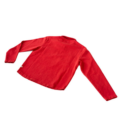 Knickerbocker Compact Knit Quarter Zip Shirt Red