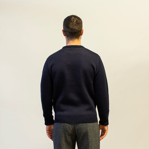 Knickerbocker Santa Fe Merino Sweater Dark Navy