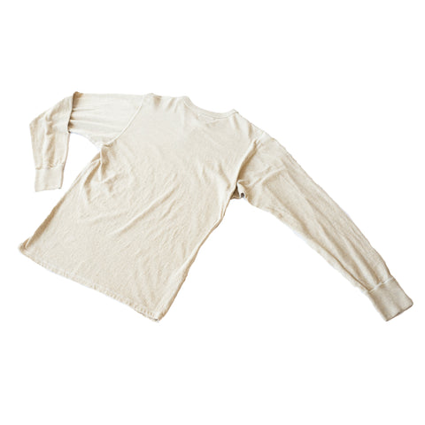 National Athletic Goods Gym Tee Mock Twist Jersey Oatmeal