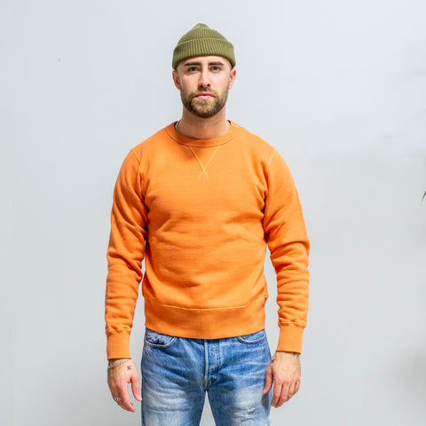Buzz Rickson's Loopwheel Crewneck Orange