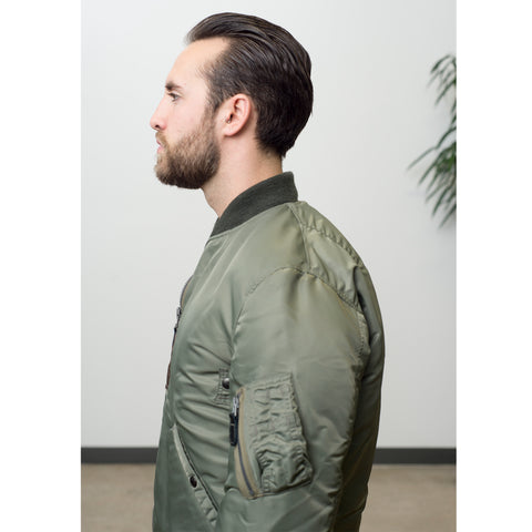 Buzz Rickson's x William Gibson Down Filled MA-1 Jacket Sage Green