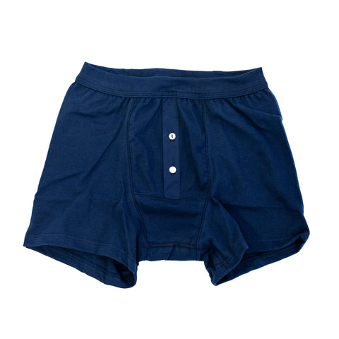 Merz B. Schwanen Button Facing Underpants Navy