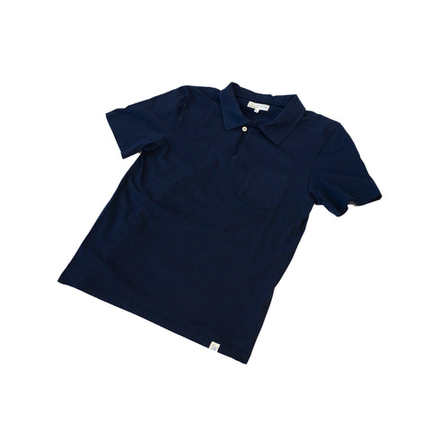 Merz b. Schwanen PLP01 Polo Shirt with Pocket Deep Blue