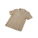 Merz b. Schwanen FTPLP01 French Terry Polo Shirt With Pocket Feather Grey
