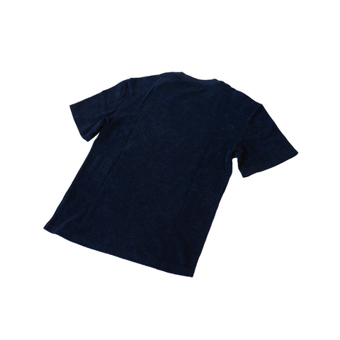 Merz b. Schwanen FTCTOS01 French Terry Crew Neck T-Shirt Oversized Deep Blue