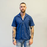 Gitman Vintage Summer Hospack Camp Shirt Navy
