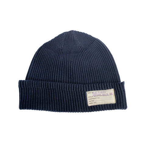 Buzz Rickson's Cotton Watch Cap Navy