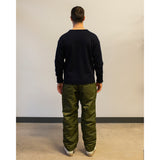 Model wearing Engineered Garments Fatigue Pant Olive