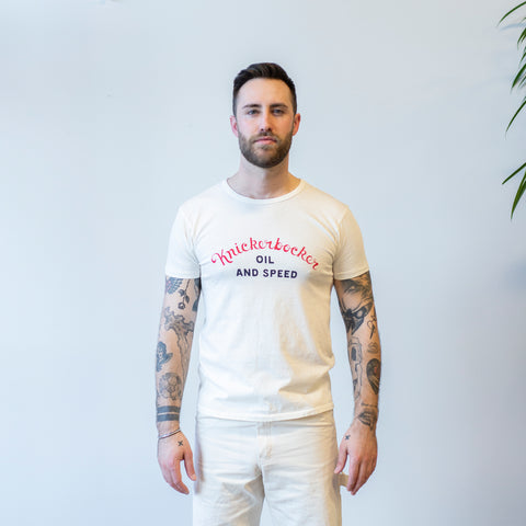 Knickerbocker Oil & Speed Tube Tee Milk