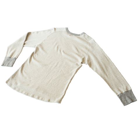 Homespun Knitwear Raglan Thermal Mil-Spec Thermal Off-White