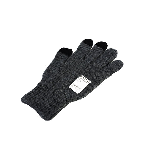 RoToTo Touch Screen Merino Glove Dark Gray